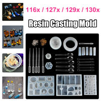 Resin Casting Mold Kit Jewelry Pendant Making Silicone Mould Crafts DIY