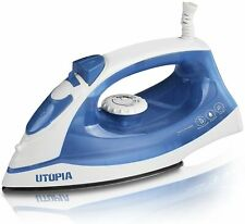 Steam Iron with Nonstick Soleplate - Small Size Light Weight - Best For Travel -
