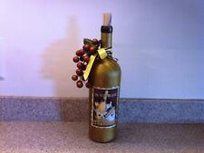 Hand Decorated Gold Wine Bottle Light