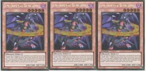 YUGIOH Card 3x Darkflare Dragon Gold Rare PGLD-EN040 1st Edition