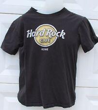 Hard Rock Cafe Mens ROME Italy Wood Panel Logo Black Medium Short Sleeve T Shirt