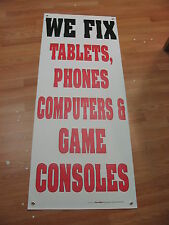 5x2 WE FIX TABLETS, PHONES, COMPUTERS & GAME CONSOLES Banner Sign