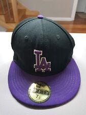 LA Dodgers Flexfit Baseball Cap - Black and Purple