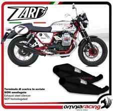 Zard 2 terminali scarico nero non omolog Moto Guzzi V7 cafe racer/classic 09>12
