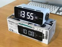 SEIKO C3 DL213W Digital Flip alarm clock Vintage Retro Japan White Working 151