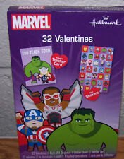 Valentines Day Cards (Box of 32) Hallmark Marvel with Stickers