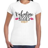 Valentine Kisses Ladies T Shirt - Valentine Gift