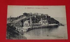 CPA CARTE POSTALE 1910 MANCHE 50 GRANVILLE NORMANDIE CASINO ET HAUTE-VILLE