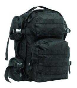 Ncstar Water Resistant Tactical Nylon 6 Pockets Durable Backpack Black CBB2911