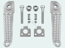 Silver Rear Footrests Foot Pegs For YAMAHA YZF R1 02-14 R6 03-14 04 05 08 09 10