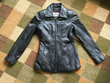 Wilson's Pele Studios Black Leather Jacket  Women's XS Maroon Quilted Thinsulate
