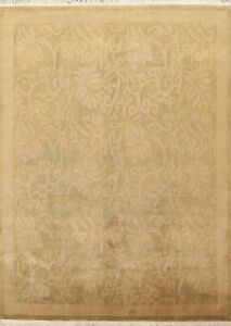 8x10 ft Floral Contemporary Nepalese Oriental Area Rug Wool Hand-knotted Carpet