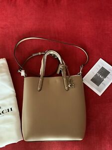 Brand New Coach cross body Tote Taupe Leather RRP £249