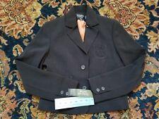 Signature by Larry Levine Women's Petite 4P black Pinstripe pumpkin suit Blazer