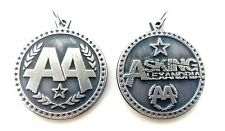 Asking Alexandria AA Rare doble sided Pendant Necklace Pewter Silver 011