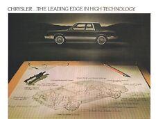 1982 Chrysler LeBARON Brochure / Catalog with Color Chart: MEDALLION,Convertible