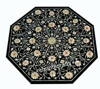 Octagon Shape MOP Patio Table Top Luxurious Art Marble Coffee Table Home Assents