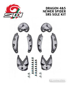 Sidi DRAGON 4/5 & SPIDER Carbon Sole SRS Tread Kit Replacement Soles ANTHRACITE