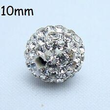10mm Premium Quality Clay Crystal Disco Ball Beads Make Shamballa Bracelects