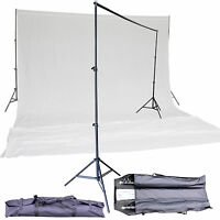 Pro Studio Photography Video Supporting Stands 10 x 20ft White Muslin Backdrop