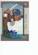 TOMAS de la ROSA Autographed Signed 2000 Bowman card Montreal Expos COA