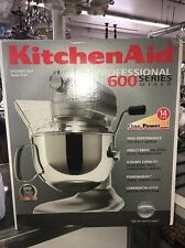 BRAND NEW SEALED Kitchen Aid PRO 600 6qt Professional Stand Mixer NICKEL PEARL