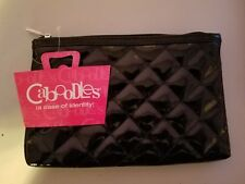 new with tags Caboodles Clutch Cosmetic Bag black