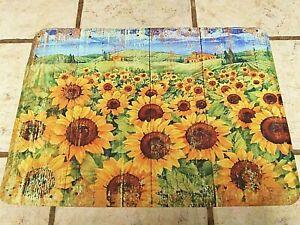 Sunflower Memory Foam Anti Fatigue Durable Non Skid Rug, 18x24 Thick