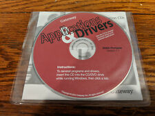 Gateway Applications and Drivers computer Reinstall CD M405 Portable V. 1.1