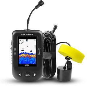 Wired Fish Finder Alarm Sensor Transducer Portable Fishing Sonar LCD Display