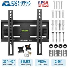 "Flat TV Wall Mount Bracket 15° Tilt For 23"" 26"" 27"" 32"" 37"" 40"" 42"" inch LED LCD"