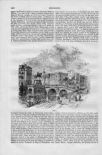 Berlín Berliner castillo castillo puente clave de madera de 1890