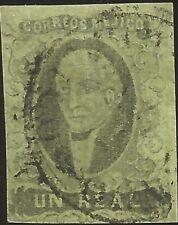J) 1861 Mexico, Hidalgo, Un Real, No District Name, Circular Cancellation, Mn