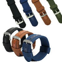 18/20/22/24mm Mens Army Military Nylon Canvas Wrist Watch Band Replacement