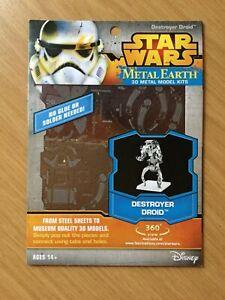 Star Wars Metal Earth destroyer Droid