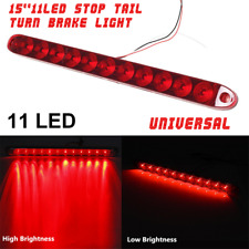 "15"" 11LED Red Car Trailer Stop Brake Light Tail Submersible Lamp Strip Universal"