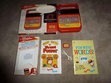 "Vintage Speak & Spell + 1 Module Orig Boxes *Working* Feaured In ""E.T."" Vg!"