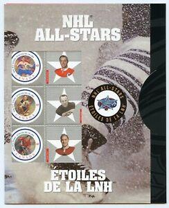Weeda Canada 1885 VF MNH 2001 NHL All-Stars hockey issue pane of 6 CV $6