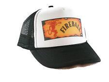 Fireball Cinnamon Whiskey Trucker Hat mesh hat snapback hat Black
