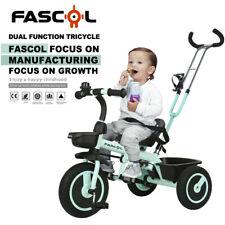 Dreirad Kinder 18 Monate bis 5 Jahre mit Schubstange Doppelte Funktion Fahrrad