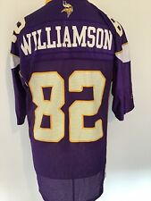 MINNESOTA VIKINGS *WILIAMSON #82* REEBOK MENS NFL JERSEY MEDIUM