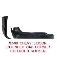 96 98 Chevy 3rd Door RIGHT Extended Cab Corner & Rocker Panel GMC Truck 2Pc Kit