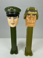 PEZ Military Army Soldier & Officer Emergency Heroes Retired Dispensers Lot of 2