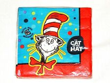 CAT IN THE HAT 16-PAPER DESSERT NAPKINS- PARTY SUPPLIES