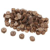 100pcs Wood Log Tree Slices Rustic Wedding Table Crafts Natural Decorations