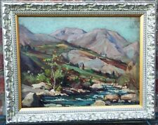 Paysage de montagne - Huile sur panneau de Louis-Agricol Montagné
