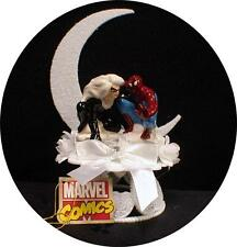 SPIDERMAN groom Sexy Cat women bride Wedding Cake Topper Top Super Hero Funny