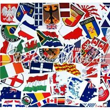 30+ WORLD FLAG STICKERS, Coat of Arms Shields etc Clearance & 2nd Quality Decals