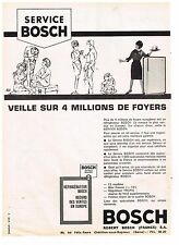 PUBLICITE ADVERTISING  1963   BOSCH   SERVICE   réfrigérateur