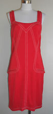 Gianni VERSACE couture red stretch jersey knit shift sheath dress 10  $900 +